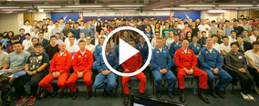 Royal Air Force (RAF) Red Arrows - Visit to HKU SPACE - youtube 1