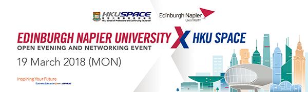 Edinburgh Napier University x HKU SPACE Open Evening and Networking Event