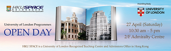 Join University of London Programmes - Open Day on 27 April to meet the representatives!