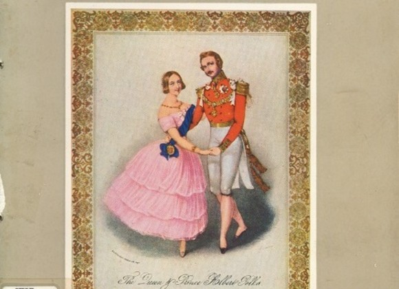 "Prospectus Cover Design: ""The Queen Victoria and Prince Albert Dancing"""