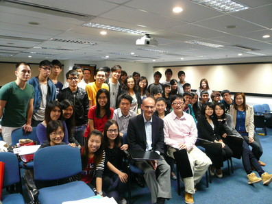 Class 2011, with Mr P. Mitchell, senior lecturer, Ulster University