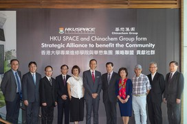 Chinachem's first business-education collaboration program HKU SPACE and Chinachem Group form a strategic alliance