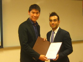 Left: Dr. Ringo Chan, Programme Leader, HKU SPACE Right: Mr. Nikhil Ramchandani, Client Manager, Thomson Reuters