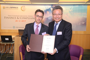 Left: Mr Jeremy Lam - Partner & Head of Financial Services Practice, Deacons; Member of FSDC Policy Research Committee; Right: Prof Liu Ning Rong, Deputy Director (Business and China) / Head of College of Business and Finance, HKU SPACE