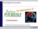 Exploring the Applications of Psychology