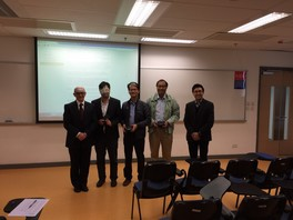 A group of representatives of Institution of Occupational Safety and Health, HK, invited to brief students on its institution and how to become its members (2015)