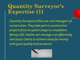 Becoming a Quantity Surveyor
