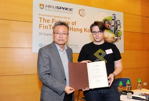 Left: Prof N. R. Liu, Head of College of Business and Finance, HKU SPACE.Mr Janos BARBERIS, Founder SuperCharger, PhD Candidate HKU Law, Academic Board CFTE