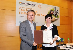 Left: Prof N. R. Liu, Head of College of Business and Finance, HKU SPACE.Ms Mary Leung, CFA, Head of Standards and Advocacy, Asia Pacific, CFA Institute