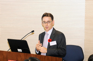 The speaker: Mr. Jeremy Dinshaw LAM, FSDC Policy Research Committee Member; Partner & Head of Financial Services Practice, Deacons
