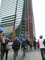 Student visit to ICC construction site