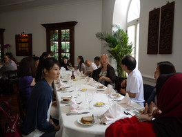 Lunch after visiting Macao Historical Archives in June 2011