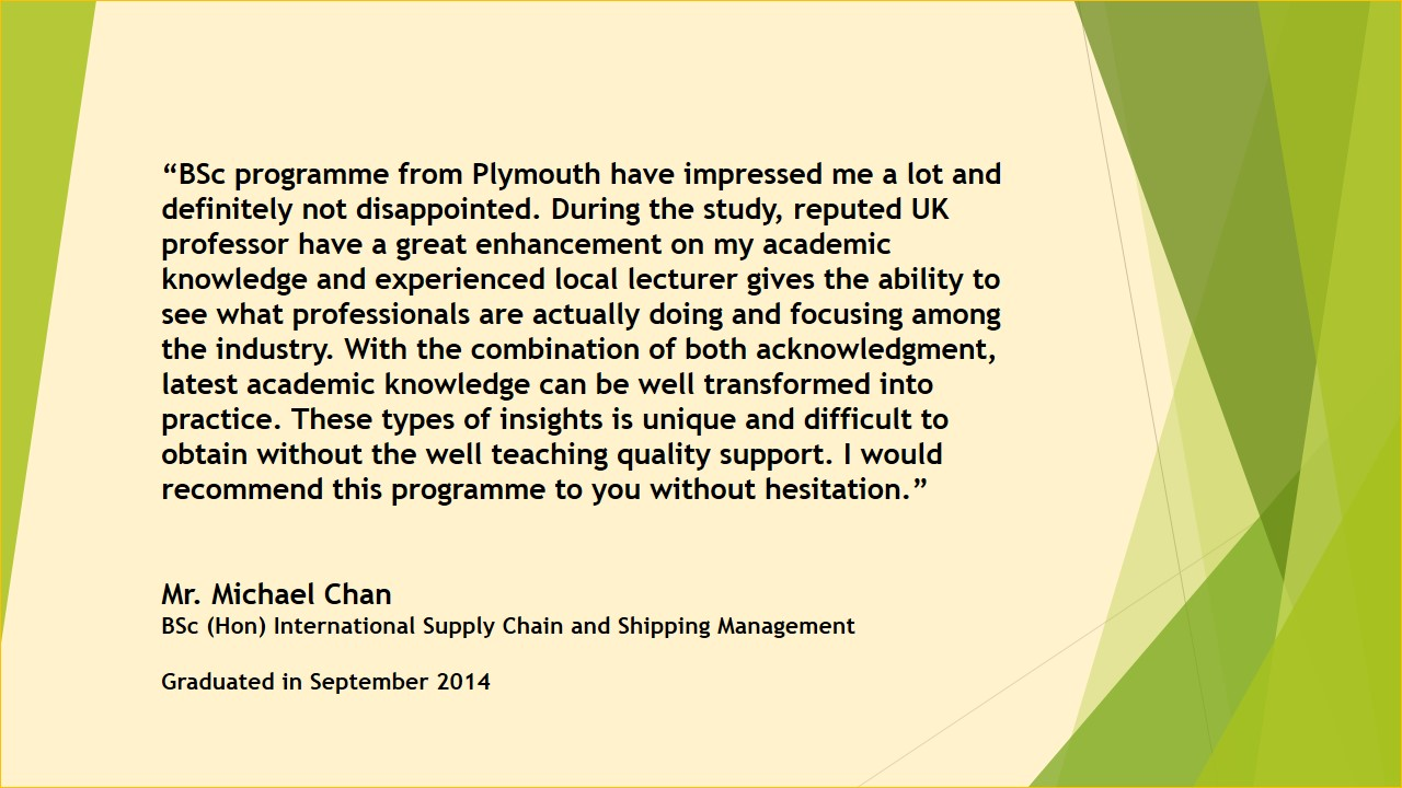 Supply Chain and Logistics Management Programmes and Short Courses